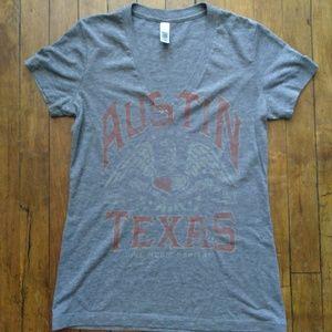 Austin Texas V-neck T-shirt Bella Medium